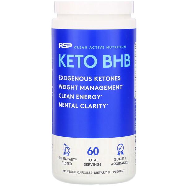 RSP Nutrition, Keto BHB, 240 cápsulas vegetales