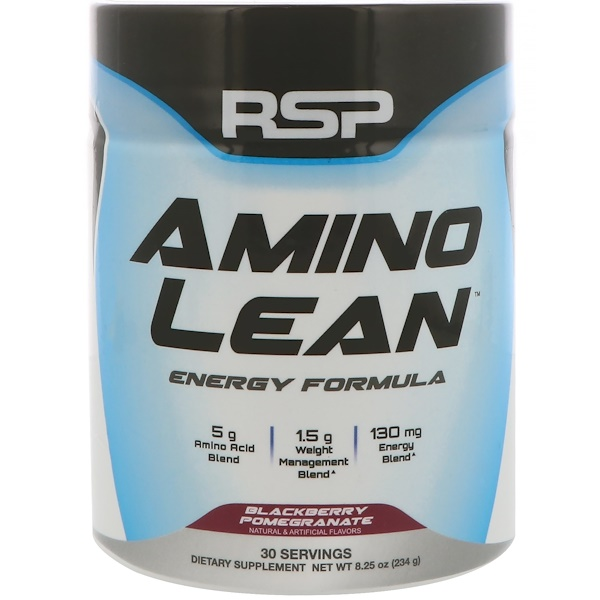 AminoLean, Energy Formula, Blackberry Pomegranate, 8.25 oz (234 g)
