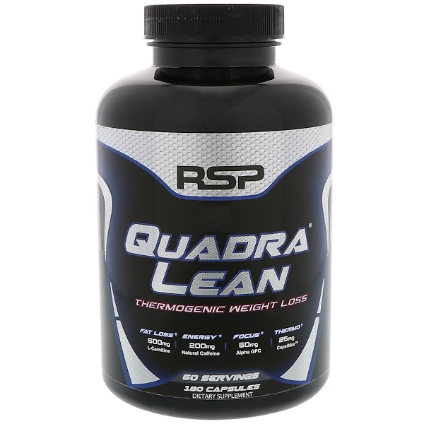 RSP Nutrition, QuadraLean Thermogenic Weight  Management, 180 Capsules