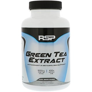 RSP Nutrition, Green Tea Extract, 100 Capsules