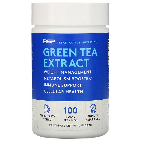 RSP Nutrition, Green Tea Extract, 500 mg, 100 Capsules (Discontinued Item)