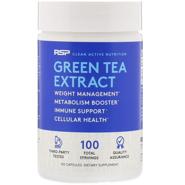 Green Tea Extract, 500 mg, 100 Capsules