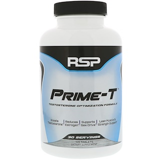 RSP Nutrition, Prime-T, Testosteron-Booster, 120 Tabletten