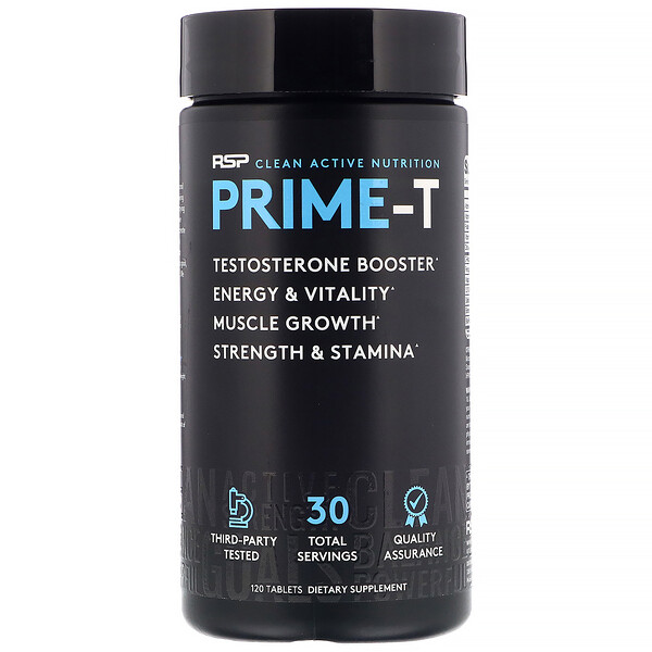 Prime-T, Testosterone Booster, 120 Tablets