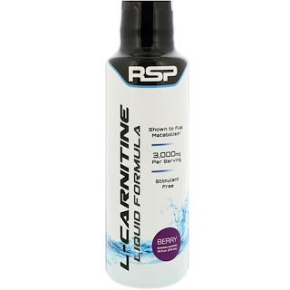 RSP Nutrition, L-Carnitine, Liquid Formula, Berry, 16 fl oz (473 ml)