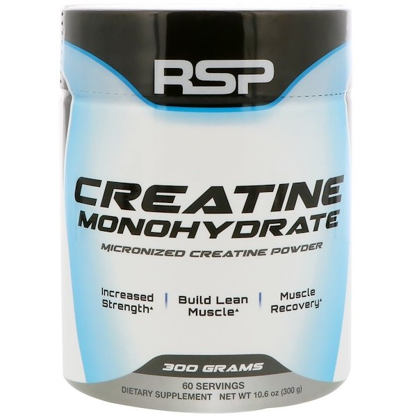 RSP Nutrition, Creatine Monohydrate, Micronized Creatine Powder, 10.6 oz (300 g)