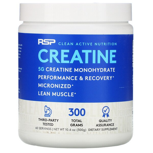 RSP Nutrition, Creatine Monohydrate Powder, 5 g, 10.6 oz (300 g)