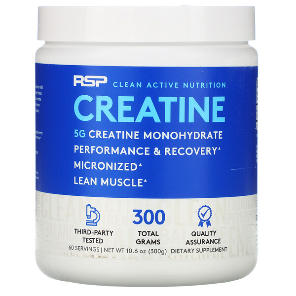Creatine Monohydrate Powder, 5 g, 10.6 oz (300 g)
