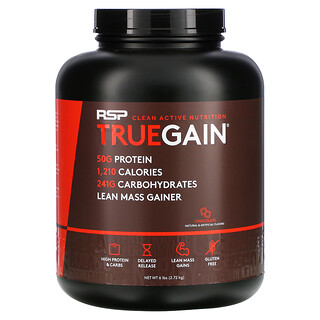 RSP Nutrition, TrueGain معزز الكتل العضلية، بنكهة الشيكولاتة، 6 أرطال (2.72 كجم)
