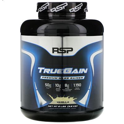 RSP Nutrition TrueGain Premium Mass Gainer, Vanilla, 6 lbs (2.6 kg)
