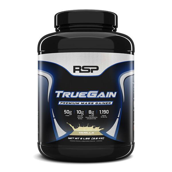TrueGain Premium Mass Gainer, Vanilla, 6 lbs (2.6 kg)