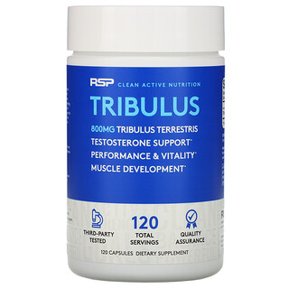 RSP Nutrition, Tribulus Terrestris, Testosterone Support, 800 mg, 120 Capsules