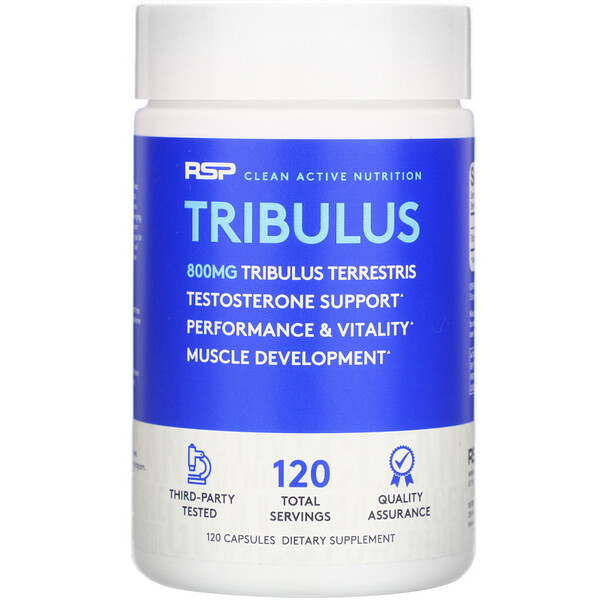 RSP Nutrition, Tribulus, 800 mg, 120 Capsules