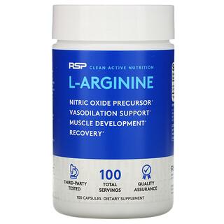 RSP Nutrition,  L-Arginine, Nitric Oxide + Vasodilation, 100 Capsules