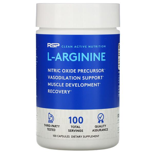 RSP Nutrition,  精氨酸,一氧化氮 + 血管舒張,100 粒膠囊