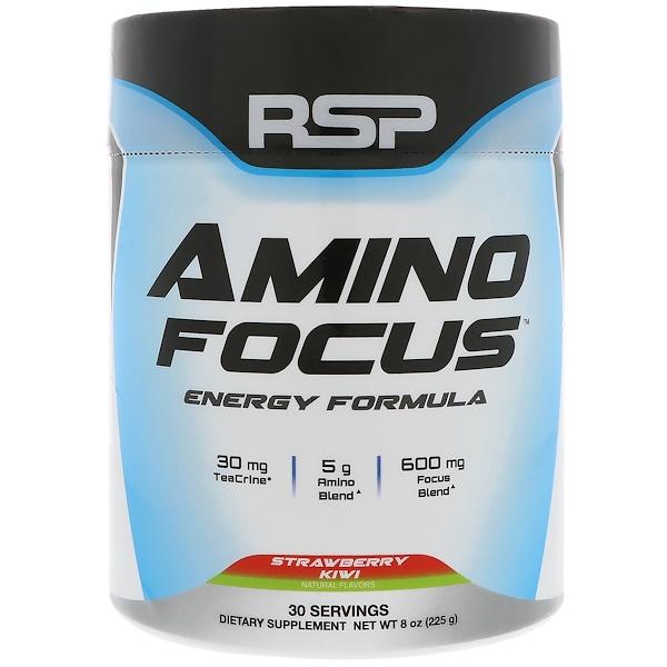 RSP Nutrition, Amino Focus,能量配方,草莓獼猴桃,8盎司(225克)