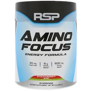 RSP Nutrition, Amino Focus, Energy Formula, Strawberry Kiwi, 8 oz (225 g) отзывы