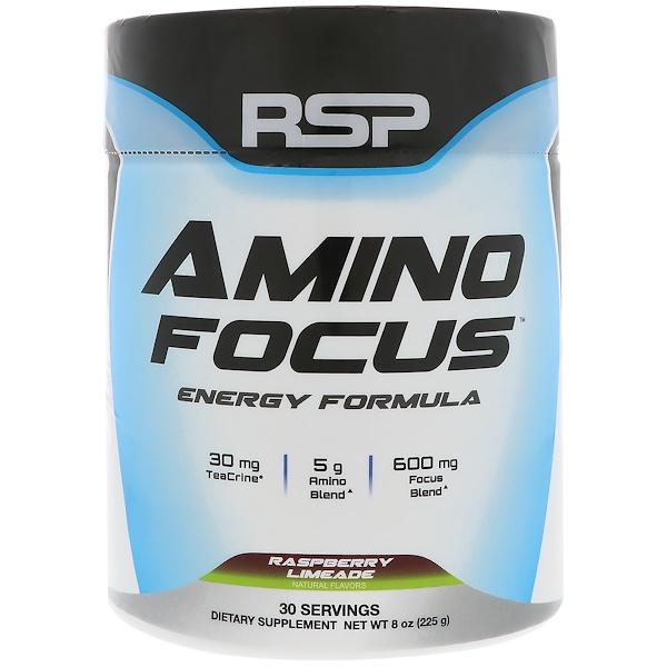 RSP Nutrition, Amino Focus, 能量配方,樹莓酸,8 盎司(225 克)