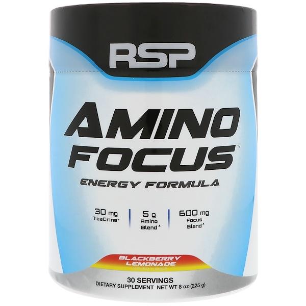RSP Nutrition, Amino Focus,  Energy Formula, Blackberry Lemonade, 8 oz (225 g)