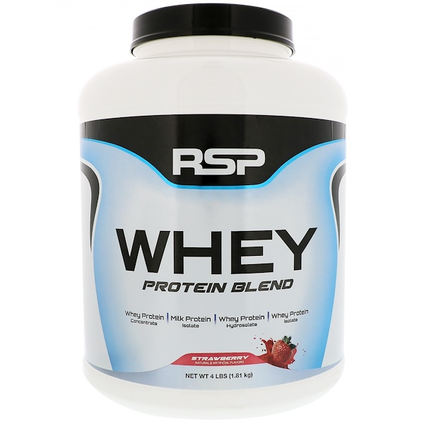 RSP Nutrition, Whey Protein Blend, Strawberry, 4 lbs (1.81 kg) (Discontinued Item)