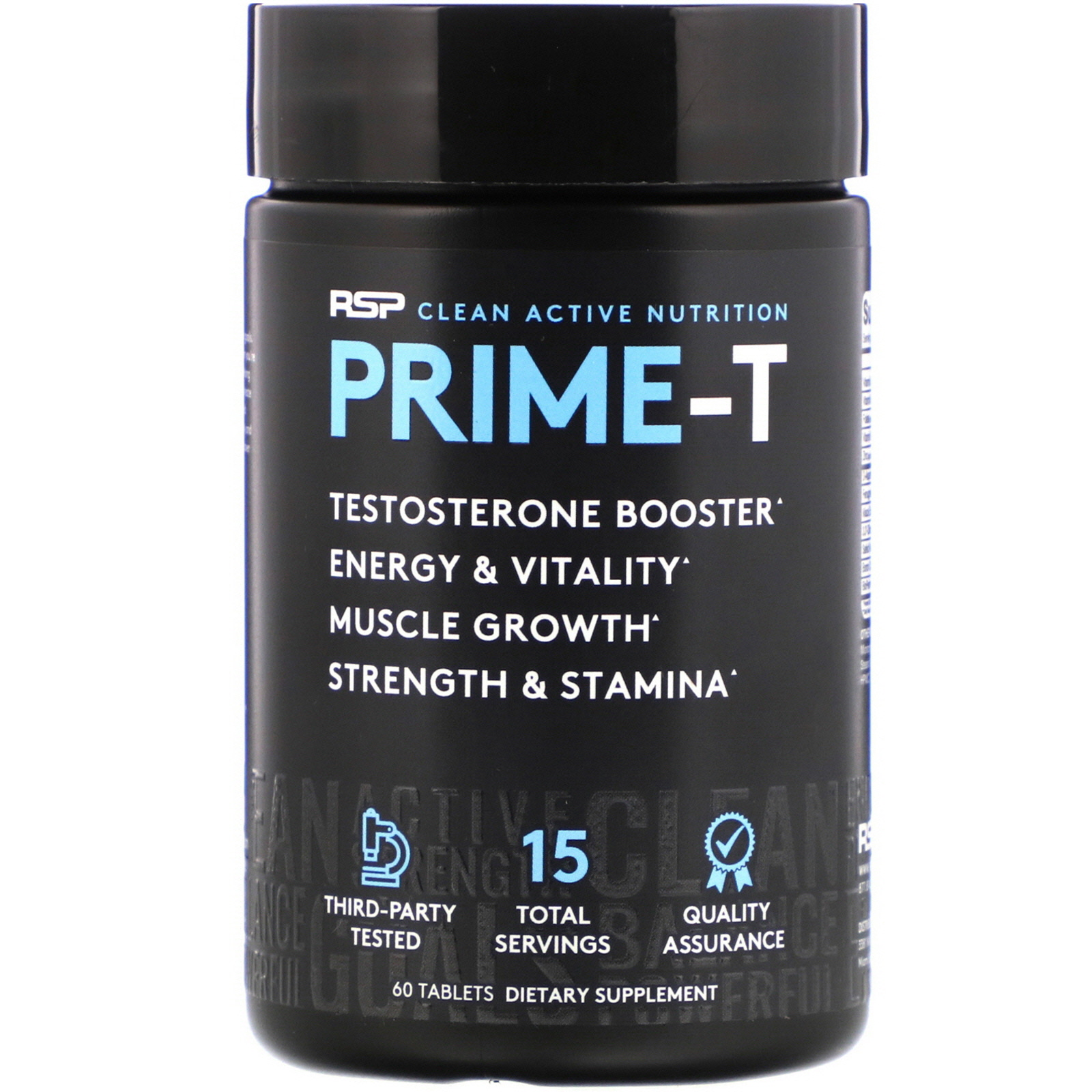 RSP Nutrition Prime-T Testosterone Booster 60 Tablets - iHerb