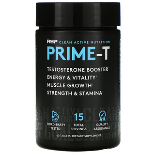RSP Nutrition, Prime-T, Testosterone Booster, 60 Tablets