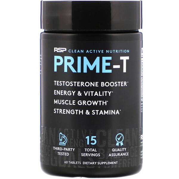 RSP Nutrition, Prime-T، معزز تيستوستيرون، 60 قرص