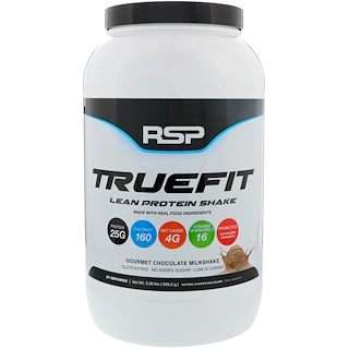 RSP Nutrition, トゥルーフィット、リーンプロテインシェイク、グルメチョコレート・ミルクシェイク、2.06 lbs (935.2 g)
