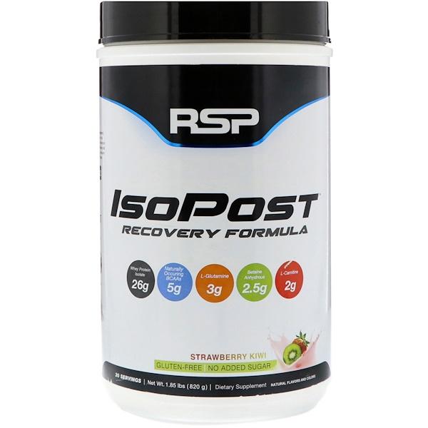 RSP Nutrition, IsoPost, восстановительная формула, клубника и киви, 1,85 ф. (820 г) (Discontinued Item)