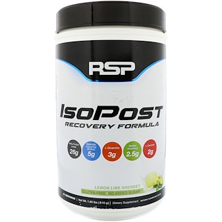 RSP Nutrition, IsoPost, Recovery Formula, Lemon Lime Sherbet, 1.85 lbs (810 g)