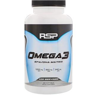 RSP Nutrition, Omega 3, 200 Softgels