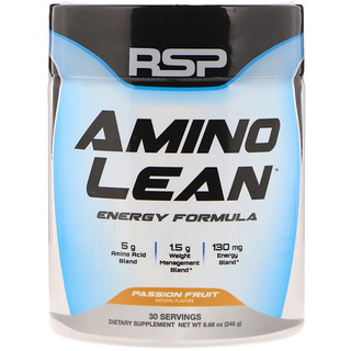 RSP Nutrition, Amino Lean Energy Formula, Passion Fruit,  8.68 oz (246 g)