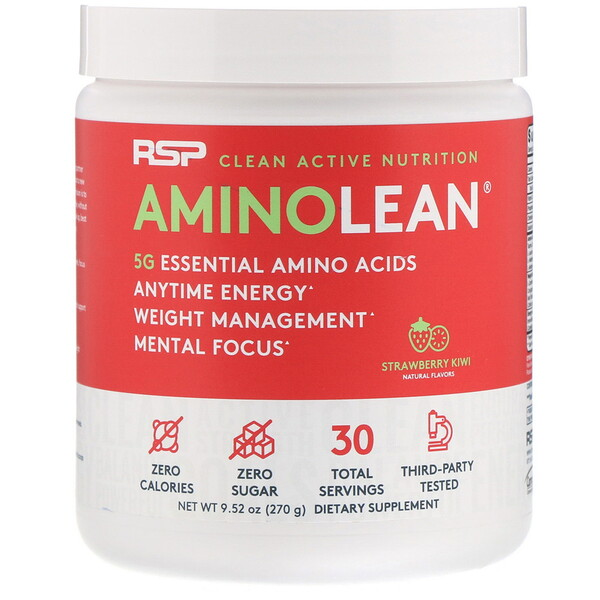 AminoLean, Strawberry Kiwi, 9.52 oz (270 g)