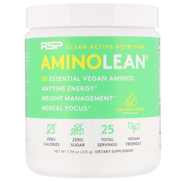 AminoLean, Cucumber Lemon, 7.94 oz (225 g)