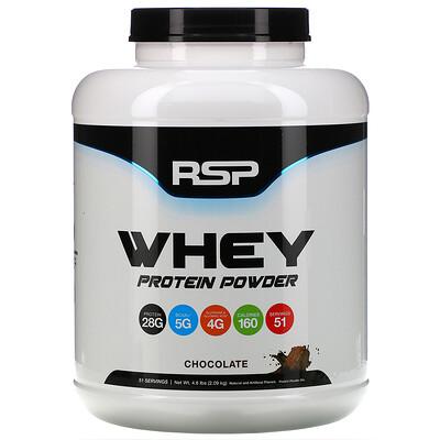 Купить RSP Nutrition Сывороточный протеин в порошке, шоколад, 2, 09кг (4, 6фунта)