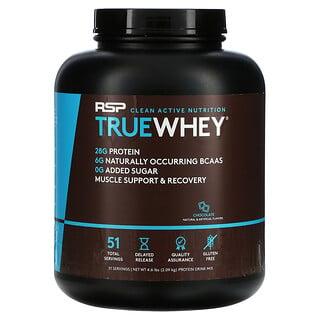 RSP Nutrition, TrueWhey, Chocolate, 4.6 lbs (2.09 kg)
