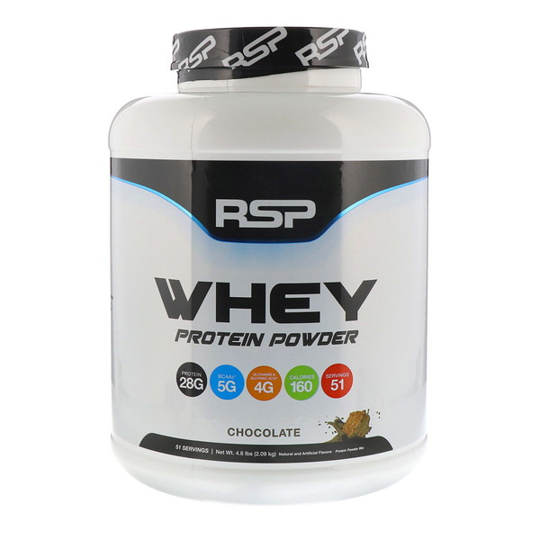 RSP Nutrition, Whey Protein Powder, Chocolate, 4.6 lbs (2.09 kg)