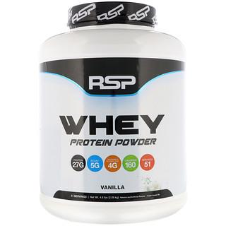 RSP Nutrition, Сывороточный протеин в виде порошка, ваниль 4,6 фунта (2,09 кг)