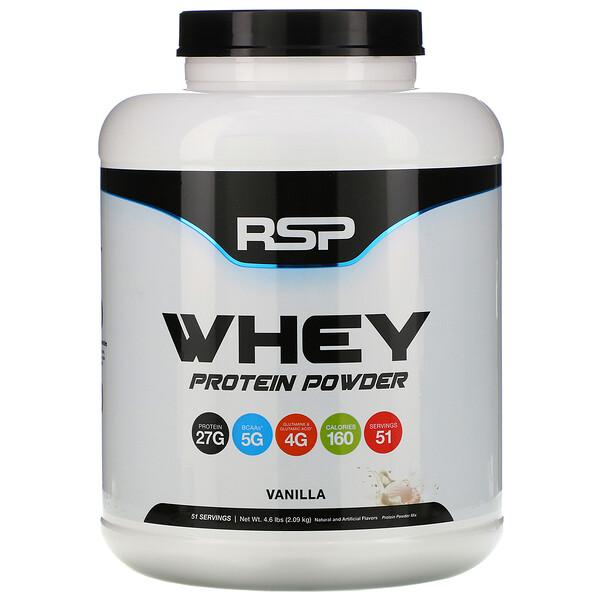RSP Nutrition, Сывороточный протеин в порошке, ваниль, 2,09кг (4,6фунта) (Discontinued Item)