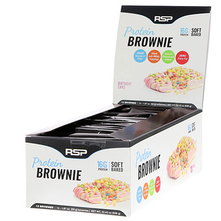 RSP Nutrition, Protein Brownie, Birthday Cake, 12 Brownies, 1.87 oz (53 g) Each