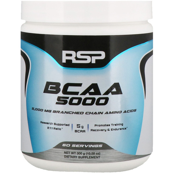 BCAA 5000, Unflavored, 5,000 mg, 10.58 oz (300 g)