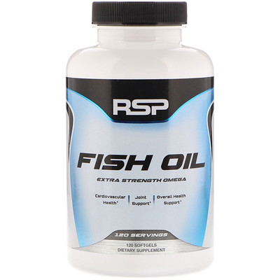 RSP Nutrition Fish Oil Extra Strength Omega, 120 Softgels