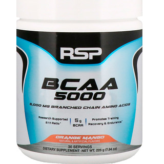 RSP Nutrition, BCAA 5000, Orange Mango, 7.94 oz (225 g)