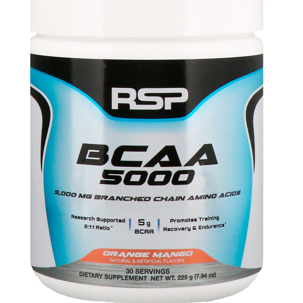 RSP Nutrition, BCAA 5000, Orange Mango, 7.94 oz (225 g) (Discontinued Item)