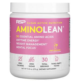 RSP Nutrition, AminoLean, Essential Amino Acids + Anytime Energy, Pink Lemonade, 9.52 oz (270 g)