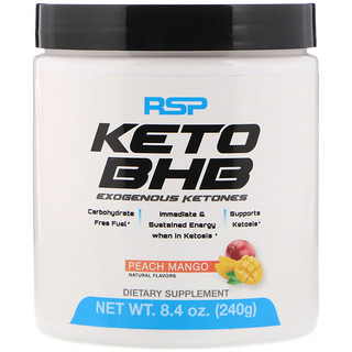 RSP Nutrition, Keto BHB, Peach Mango, 8.4 oz (240 g)