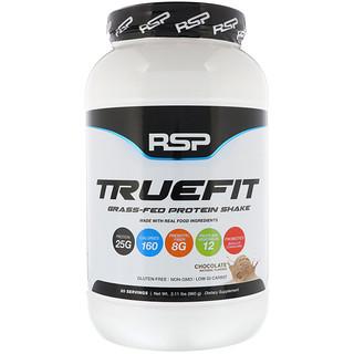RSP Nutrition, トゥルーフィット、牧草飼育プロテインシェイク、チョコレート、2.11ポンド (960 g)