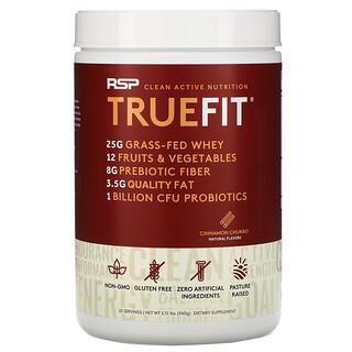 RSP Nutrition, TrueFit, Grass-Fed Whey Protein Shake with Fruits & Veggies, Cinnamon Churro, 2 lbs (940 g)