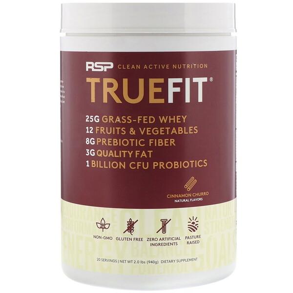 TrueFit, Grass-Fed Whey Protein Shake, Cinnamon Churro, 2 lbs (940 g)