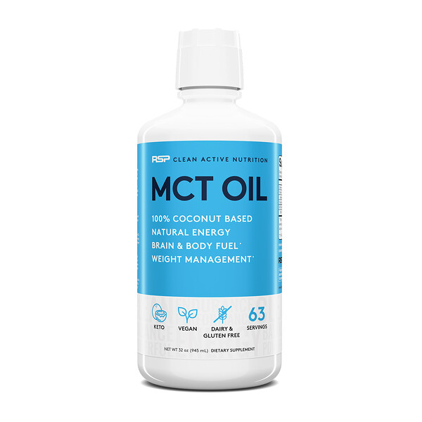 C8 Caprylic Acid MCT Oil, Energy & Metabolism, Unflavored, 32 oz (945 ml)